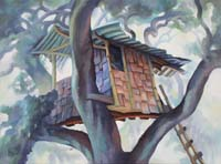 CALIFORNIAN TREE HOUSE 2 - Claude-Max Lochu - Artiste Peintre - Paris Painter