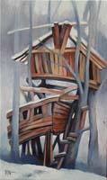 CABANE DOUBLE - Claude-Max Lochu - Artiste Peintre - Paris Painter