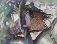 CALIFORNIAN TREE HOUSE 3 - Claude-Max Lochu - Artiste Peintre - Paris Painter