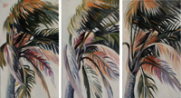 CALIFORNIAN PALMS TRIPTYQUE - Claude-Max Lochu - Artiste Peintre - Paris Painter