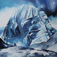 BLUE MONT KAILASH - Claude-Max Lochu - Artiste Peintre - Paris Painter