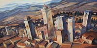SAN GIMIGNANO FLYING VIEW - Claude-Max Lochu - Artiste Peintre - Paris Painter
