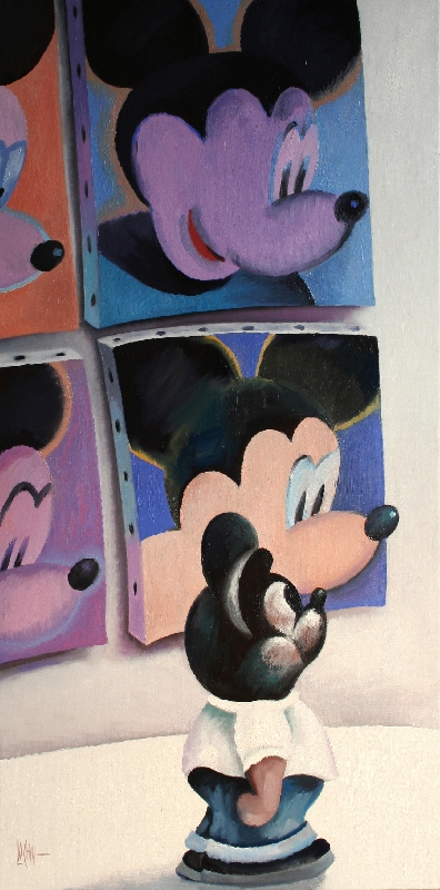 MICKEY IN THE MUSEUM - 120x60