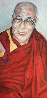 DALAÏ LAMA'08 - Claude-Max Lochu - Artiste Peintre - Paris Painter