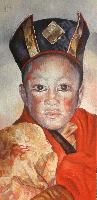 GYALWA KARMAPA ENFANT - Claude-Max Lochu - Artiste Peintre - Paris Painter