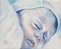 BLUE BABY GIRL N°4 - Claude-Max Lochu - Artiste Peintre - Paris Painter