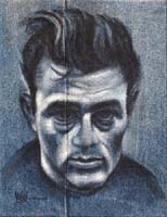 BLUE JAMES DEAN - Claude-Max Lochu - Artiste Peintre - Paris Painter