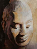 BOUDDHA KHMER - Claude-Max Lochu - Artiste Peintre - Paris Painter