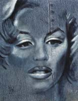 BLUE MARILYN - Claude-Max Lochu - Artiste Peintre - Paris Painter