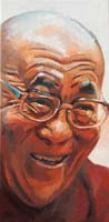 DALAÏ LAMA '06 ORANGE - Claude-Max Lochu - Artiste Peintre - Paris Painter