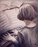 YO AU PIANO - Claude-Max Lochu - Artiste Peintre - Paris Painter