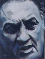 FEDERICO FELLINI - Claude-Max Lochu - Artiste Peintre - Paris Painter