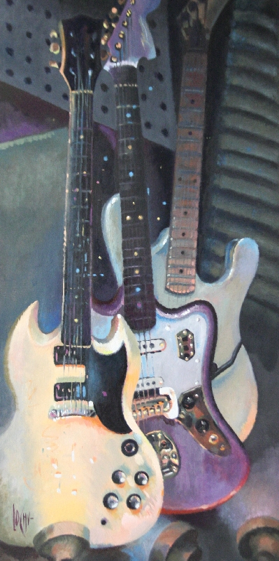 THE 3 GUITARS OF CHELSEA - 100x50