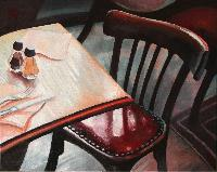CAFE DE L'INDUSTRIE - Claude-Max Lochu - Artiste Peintre - Paris Painter
