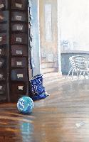 LE BALLON BLEU - Claude-Max Lochu - Artiste Peintre - Paris Painter