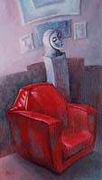 LE FAUTEUIL ROUGE - Claude-Max Lochu - Artiste Peintre - Paris Painter