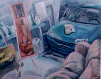 LE GARAGE ATELIER - Claude-Max Lochu - Artiste Peintre - Paris Painter