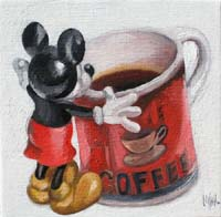 MICKEY & THE MUG - Claude-Max Lochu - Artiste Peintre - Paris Painter