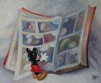 MICKEY & L'ALBUM - Claude-Max Lochu - Artiste Peintre - Paris Painter