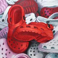 RED CROCS - Claude-Max Lochu - Artiste Peintre - Paris Painter