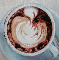 CAPPUCCINO - Claude-Max Lochu - Artiste Peintre - Paris Painter