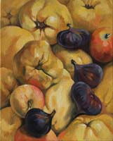 COINGS,FIGUES & POMMES - Claude-Max Lochu - Artiste Peintre - Paris Painter