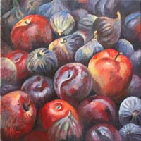 POMMES,PRUNES & FIGUES - Claude-Max Lochu - Artiste Peintre - Paris Painter