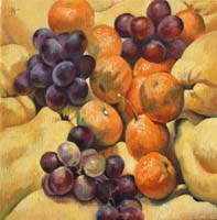 COINGS,RAISINS & MANDARINES - Claude-Max Lochu - Artiste Peintre - Paris Painter