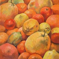 ORANGES,CITRONS & MANDARINES - Claude-Max Lochu - Artiste Peintre - Paris Painter
