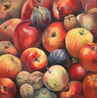 POMMES,FIGUES & NOIX - Claude-Max Lochu - Artiste Peintre - Paris Painter