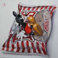 SALTED PEANUTS - Claude-Max Lochu - Artiste Peintre - Paris Painter