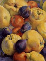COINGS MANDARINES ET FIGUES - Claude-Max Lochu - Artiste Peintre - Paris Painter