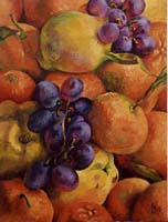 COINGS MANDARINES ET RAISINS - Claude-Max Lochu - Artiste Peintre - Paris Painter