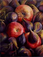 POMMES ET FIGUES - Claude-Max Lochu - Artiste Peintre - Paris Painter