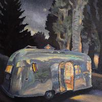 AIRSTREAM AT NIGHT - 80x80