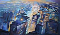 ELECTRIC CITY - Claude-Max Lochu - Artiste Peintre - Paris Painter