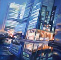 WEST INDIA QUAY - Claude-Max Lochu - Artiste Peintre - Paris Painter