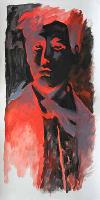 RIMBAUD NEGATIF ROUGE - Claude-Max Lochu - Artiste Peintre - Paris Painter