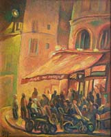 LE BAR DU MARCHE - Claude-Max Lochu - Artiste Peintre - Paris Painter