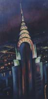 CHRYSLER BLDG AT NIGHT - Claude-Max Lochu - Artiste Peintre - Paris Painter
