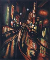 DRUNK NIGHT STREET - Claude-Max Lochu - Artiste Peintre - Paris Painter