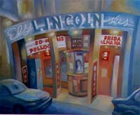 ELYSEES-LINCOLN CINEMA - Claude-Max Lochu - Artiste Peintre - Paris Painter