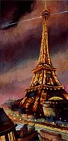 LA TOUR EIFFEL A PASSY - Claude-Max Lochu - Artiste Peintre - Paris Painter