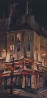 LE BAR DU PONT TOURNANT - Claude-Max Lochu - Artiste Peintre - Paris Painter