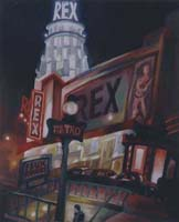 LE REX, LA NUIT - Claude-Max Lochu - Artiste Peintre - Paris Painter