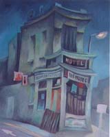 LES MUSES - HOTEL-ALIMENTATION - Claude-Max Lochu - Artiste Peintre - Paris Painter