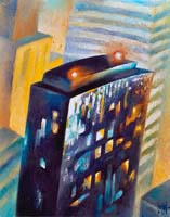 OLYMPIC TOWER - Claude-Max Lochu - Artiste Peintre - Paris Painter