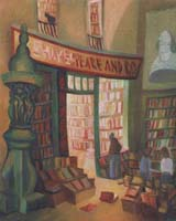 SHAKESPEARE & CO - Claude-Max Lochu - Artiste Peintre - Paris Painter