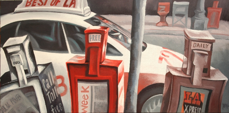 TAXI AND NEWSPAPER BOXES - 120x60