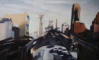 FROM AERIAL TRAMWAY - Claude-Max Lochu - Artiste Peintre - Paris Painter